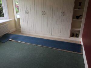 Carpet fit & stretch before
