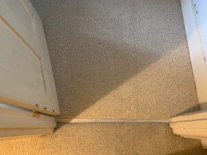 Carpet edge trim after