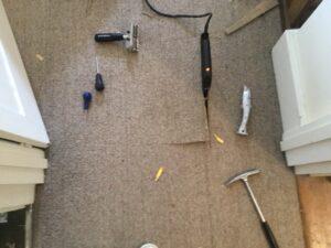 Carpet patch progress & tools
