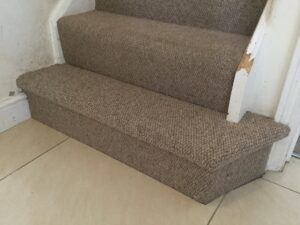 Stair carpet after