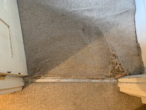 Carpet edge trim before