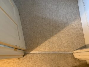 Carpet edge trim after