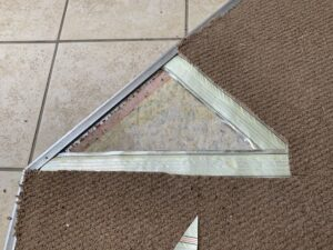 Carpet transition damage progress