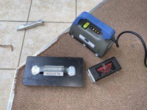 Carpet transition damage progress & tools