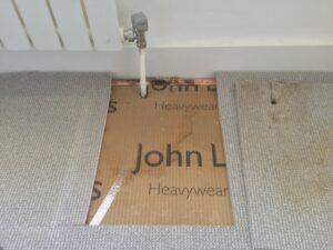 Carpet discolouration progress