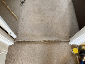 Carpet repair & stretch before