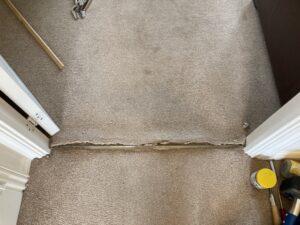 Carpet repair & stretch before