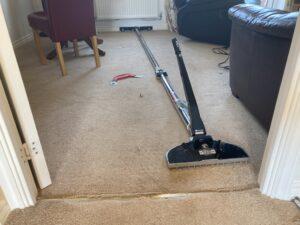 Carpet stretch & repair progress