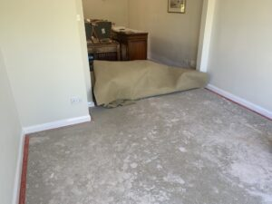 Carpet stretch before